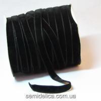 Лента бархатная 1,0 см, черный