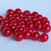 Бусины Жемчуг 8 мм, красный