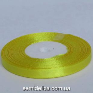 Лента атласная 0,6 см, желтый