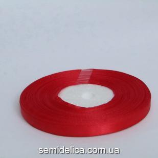 Лента атласная 0,6 см, красный
