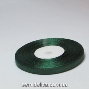 Лента атласная 0,6 см, зеленый