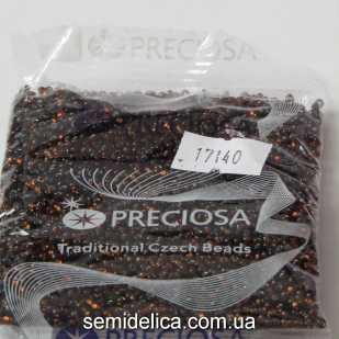 17140 Бисер Чехия 10/0, коричневый