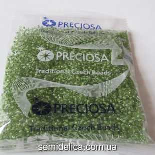 38357 Бисер Чехия 10/0, зеленый