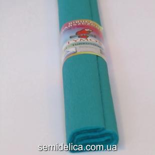 Креп-бумага 50Х200 см, 35-40г, бирюзовый