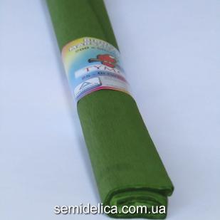 Креп-бумага 50Х200 см, 35-40г, оливковый