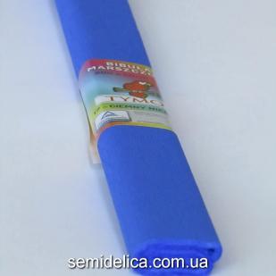 Креп-бумага 50Х200 см, 35-40г, синий