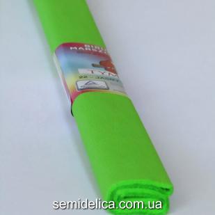 Креп-бумага 50Х200 см, 35-40г, салатовый