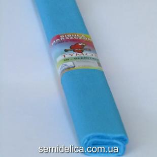 Креп-бумага 50Х200 см, 35-40г, голубой