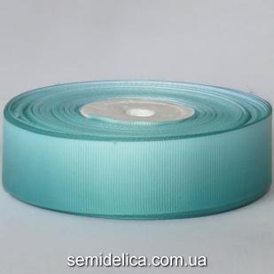 Лента репсовая 2,5 см, мятный градиент