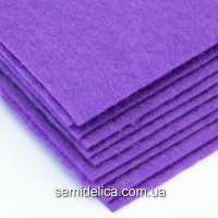 Фетр 2 мм 20х30 фиолетовый