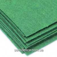 Фетр 2 мм 20х30 зеленый темный