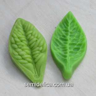 Набор Молд + Вайнер 5х3 см, Лист розы