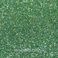 Фоамиран глиттерный 30х19,5 см, зелёный