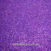 Фоамиран глиттерный 2 мм 20х30 см, фиолетовый