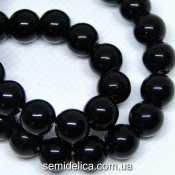 Бусины хрустальные Шар 8 мм, черный непрозрачный