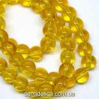 Бусины хрустальные 6 мм Круглые, желтый прозрачный