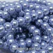 Бусины жемчуг 6 мм стеклянные, голубой