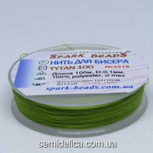 Нить для бисера TYTAN 100 м, оливковый