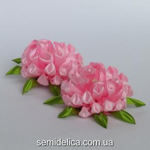 """Заколка для волос """"хризантема"""", розовый"""