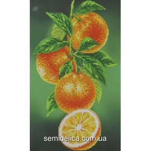"""Схема для вышивки А4 бисером на габардине """"Апельсины"""""""