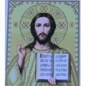 """Схема для вышивки А4 бисером на габардине """"Иисус Христос"""""""