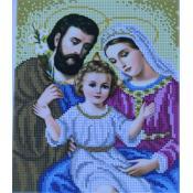 """Схема для вышивки А4 бисером на габардине """"Святое семейство"""""""