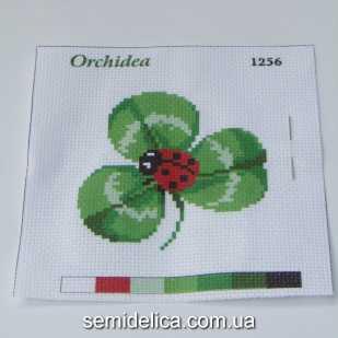 Набор для вышивки нитками 11Х11 см, Божья коровка