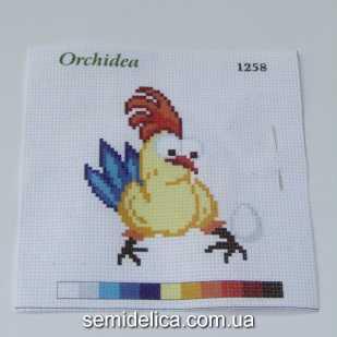 Набор для вышивки нитками 11Х11 см, Петушок и яйцо