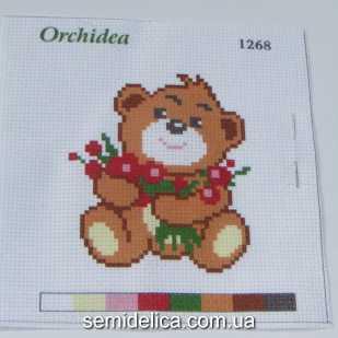 Набор для вышивки нитками 11Х11 см, Медвежонок