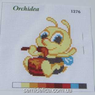 Набор для вышивки нитками 11Х11 см, Пчелка