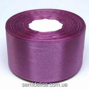 Лента атласная 5,0 см, лиловый