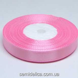 Лента атласная 1,2 см, розовый