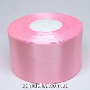 Лента атласная 5,0 см, розовый