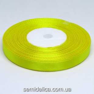Лента атласная 0,9 см, желтый