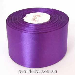 Лента атласная 5,0 см, фиолетовый