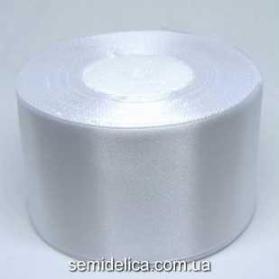 Лента атласная 5,0 см, белый