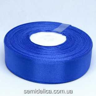 Лента атласная 2,5 см, синий