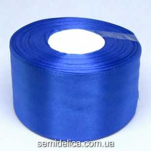 Лента атласная 5,0 см, синий