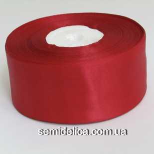 Лента атласная 4,0 см, бордо