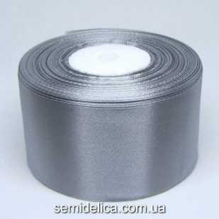 Лента атласная 5,0 см, серый