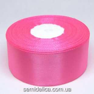 Лента атласная 4,0 см, розовый яркий