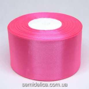 Лента атласная 5,0 см, розовый яркий