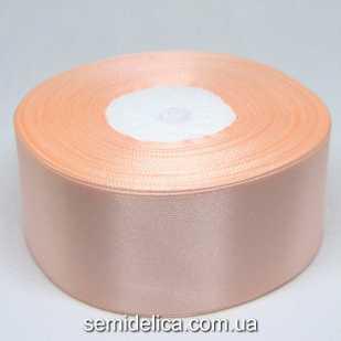 Лента атласная 4,0 см, персик