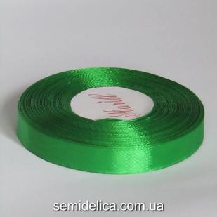 Лента атласная 1,2 см, зеленый светлый