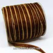 Лента бархатная 1,0 см, коричневый