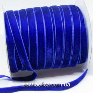 Лента бархатная 1,0 см, синий