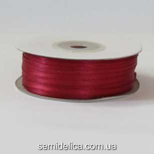 Лента атласная 0,3 см, бордо