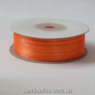 Лента атласная 0,3 см, оранжевый