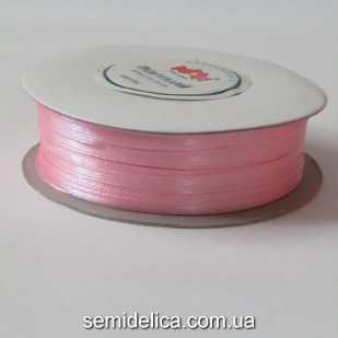 Лента атласная 0,3 см, розовый