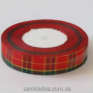 Лента шотландка 2,5 см, №2
